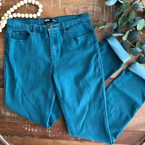 Urban Outfitters BDG High Rise Teal Cigarette Jean